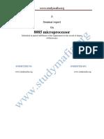 Ece 8085 Microprocessor PDF Report