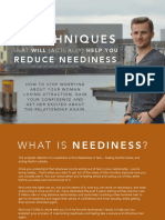 Reduce Neediness 4 Techniques