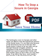 How we can stop foreclosure in Georgia