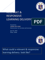 Relevant & Responsive Learning Delivery