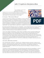 André Lara Resende_ O Equívoco Dos Juros Altos _ Valor Econômico