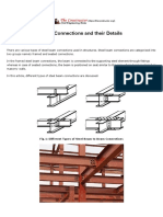 Types of Steel Beam Connections and Their Details
