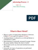 MP-I_Unit 5_Sheet Metal Working