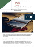 PESQUISA E PRÁTICA I - O Valor Social Da Livre Iniciativa e a Função Social Dos Contratos Na MP 881
