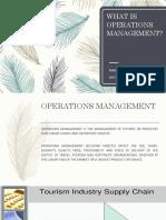 Tourism operations management