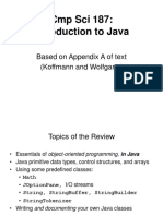 Lecture a Java Review