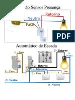 Ligação Sensor de Presença e Automático de Escada