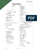 o Level a Maths 2008 Paper 2