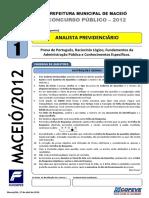 Prova - Analista Previdenciario - Tipo 1.pdf