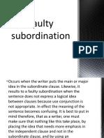 Faulty Subordination