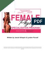 Female Specialisation Program Outline 1