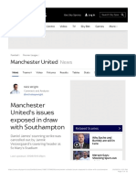 Manchester United's issues exposed in draw with Southampton | Football News | Sk