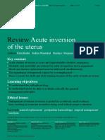 ACUTE UTERINE INVERSION