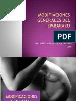 Modifiaciones Generales Del Embarazo