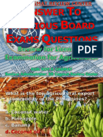 Answer to Previous Board Exam Questions