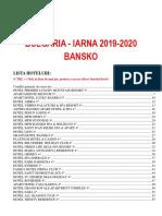 Bulgaria Bansko 2019 2020