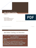 Job Order Costing and Process Costing