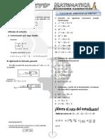 1ra - Ecuaciones - Cuadraticas - 2019- 5to - 40 Copias