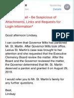 Lexius St Martin Pardon Confirmation