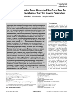 2017, Coalescence of Cluster Beam Generated Sub-2 Nm Bare Au Nanoparticles and Analysis of Au Film Growth Parameters, Annalen Der Physik Compressed