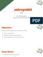 Tantrayukti - An Introduction - 1