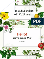 Classification of Cultures