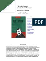 El MIR Chileno.una Experiencia Revolucionaria Andres Pascal Allende