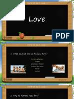 esl lesson about love