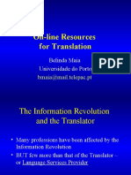 On-Line Resources for Translation