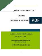 Riohs Claudio Vargas Año 2019