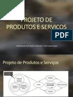 Projeto de Produtos, Serviços e Processos