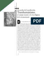 Díaz Cruz - Transhumanismo. Al Acecho de La Perfección.