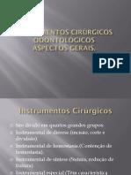 Instrumentos cirúrgicos odontológicos