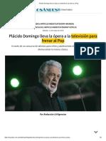 Placido Domingo en tv