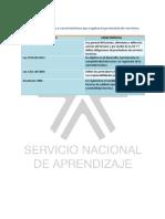 Cuadro Comparativo Normas y Características del turismo en Colombia