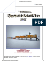 Scientists Discover Stardust in Antarctic Snow