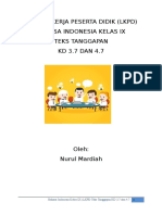 LKPD Bahasa Indonesia kelas ix