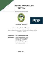 Evaluación DeL Plan Operativo Institucional 2015 Al 1er Trimestre (1)