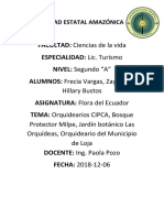 Informe de La Exposicion Grupal Flora