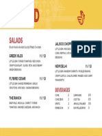 Flybird salad menu