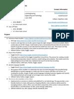 resume data