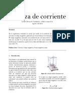 Informe de Laboratorio Balanza de Corriente.