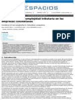 Incidence of Tax Complexity in Colombian Companies