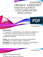 Chapter 2 MeasurementAssessment and Evaluation