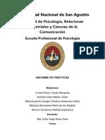 Informe de Prácticas Del Curso de Psicología Del Desarrollo