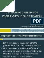 Prioritization Criteria 0