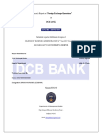 Internship Report on Foreign Exchange Operations at DCB BANK