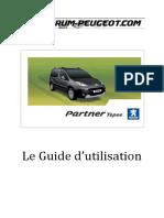 ForumPeugeot Guide Utilisation PartnerTepee