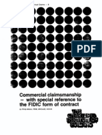 Commercial Claims Man Ship - With Special Reference to the FIDIC Form of Contract