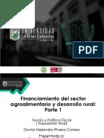 Financiamiento Para Una Mayor Productividad Del Sector Primario Agropecuario_David Alejandro Rivera Correa_ Presentación Final